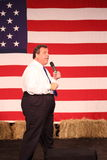 New Jersey Governor Chris Christie speaks Royalty Free Stock Image