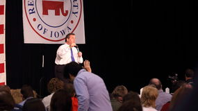 New Jersey Governor Chris Christie speaks to crowd. Royalty Free Stock Photo