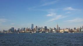 New Jersey hobooken otherside del newyork foto de archivo libre de regalías
