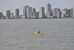 New jersey and hudson river kayak Royalty Free Stock Images