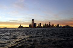 New Jersey from Manhattan side with River.  Royalty Free Stock Photos