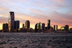 New Jersey from Manhattan side with River.  Royalty Free Stock Image