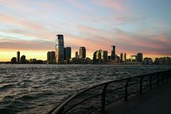 New Jersey from Manhattan side with River.  Stock Images