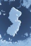 New-jersey nas nuvens Imagens de Stock