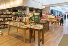 Barnes and Noble store interior. New Jersey, NJ, October 6 2018: Barnes and Noble store interior. Barnes & Noble Booksellers is the largest retail bookseller in stock image