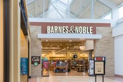 Barnes and Noble store interior. New Jersey, NJ, October 6 2018: Barnes and Noble store interior. Barnes & Noble Booksellers is the largest retail bookseller in royalty free stock photography