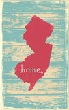 New Jersey nostalgic rustic vintage state vector sign. Rustic vintage style U.S. state poster in layered easy-editable vector format Stock Photos