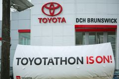 Toyota dealership sign stock images