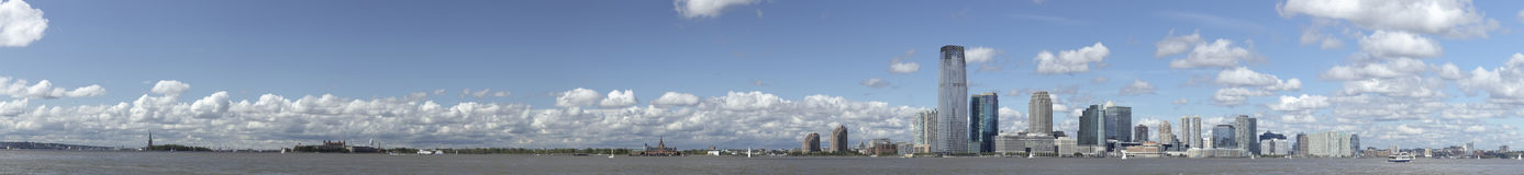 New Jersey panorama with Statue of Liberty HiRes Royalty Free Stock Photos