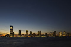 New Jersey Skyline at Dusk Royalty Free Stock Photography