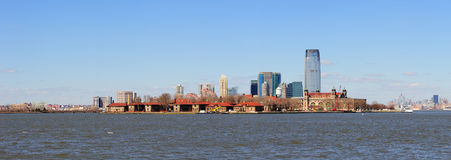 New Jersey skyline from New York City Manhattan Royalty Free Stock Photo