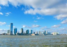 New Jersey skyline on a sunny day,  view from Battery Park, NYC Stock Photo