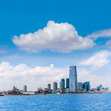 New-Jersey Stadtskyline beim Hudson New York Stockbild