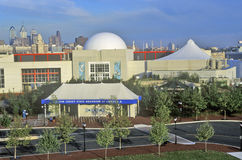 New Jersey State Aquarium in Camden, NJ with Philadelphia skyline in background Stock Images