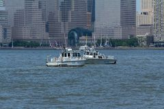 New Jersey State Police Boats Stock Photography