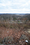 New Jersey suburbs, distant NYC  New York City, skyline. View from NJ New Jersey. Royalty Free Stock Photos