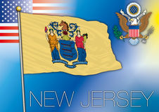 New Jersey us state flag Stock Photos