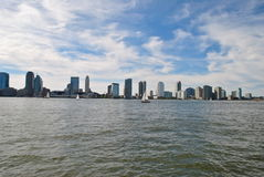 New Jersey. View of the city of New Jersey and its buildings from Battery park, New York City Stock Photo