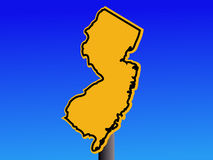 New Jersey warning sign Royalty Free Stock Images