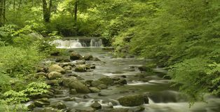 New Jersey Waterfall Panorama Stock Photo