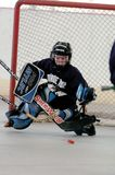 Youth Roller hockey Game. A New Jersey youth roller hockey league with both girls and boys play. this a game action photo stock photos