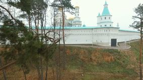 New Jerusalem Monastery in Istra in Autumn stock video