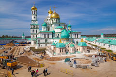 New Jerusalem monastery in Istra, Russia stock images