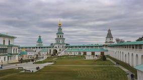 Autumn and monastery. stock photos