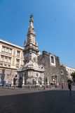 New Jesus square in Naples Royalty Free Stock Image