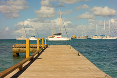 A new jetty in the caribbean Royalty Free Stock Photos