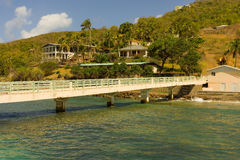 A new jetty at friendship, bequia Royalty Free Stock Image