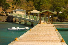 A new jetty at friendship, bequia Stock Photo