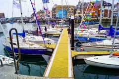 New Jetty for Sailing club stock images