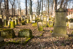 New Jewish Cemetery in the historic Jewish neighborhood of Kazimierz Stock Images