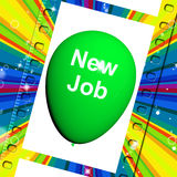 New Job Balloon Shows New Beginnings in Career Royalty Free Stock Images