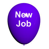 New Job Balloon Shows New Beginnings in Careers Stock Photography