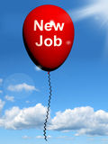 New Job Balloon Shows New Beginnings in Careers Royalty Free Stock Photography