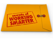 SECRETS OF WORKING SMARTER stock illustration
