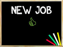 New Job message and Like sign stock photography