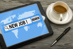 New job in search bar Royalty Free Stock Photography