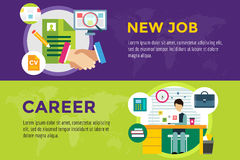 New job search and career work infographic Stock Images