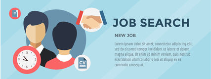 New Job Search. infographic. Recruitment, Office stock illustration