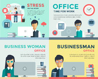 New job search and stress work infographic stock illustration