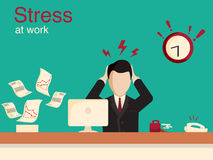 New job stress work infographic. Stress on work. Stock Photos
