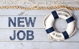 New job, welcome on board Stock Photo