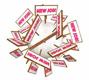 New Jobs Career Promotion Open Position Hiring Signs stock illustration