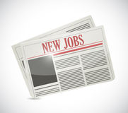 New jobs newspaper illustration design Royalty Free Stock Images