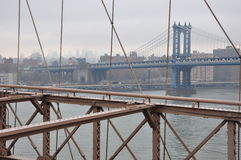 New York Manhattan Bridge Royalty Free Stock Images