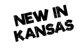 New In Kansas rubber stamp Stock Photography