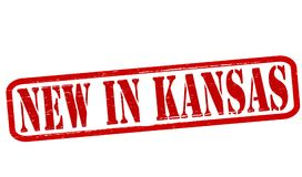 New in Kansas. Stamp with text new in Kansas inside,  illustration Royalty Free Stock Images